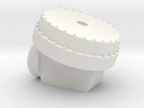 Mars Rover Wheel Adapter in White Natural Versatile Plastic