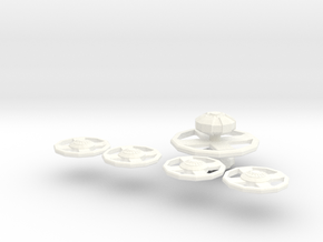 Station Parts in White Processed Versatile Plastic
