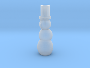 Pen Holder Snowman in Smooth Fine Detail Plastic