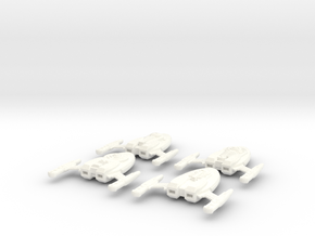 Captains Yacht 4-Pack (variations) in White Processed Versatile Plastic