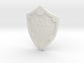 Hylian Shield Keychain/Necklace in White Natural Versatile Plastic