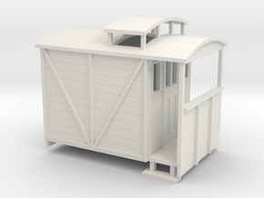 OO9 brake van with birdcage in White Strong & Flexible