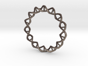 DNA in Polished Bronzed Silver Steel