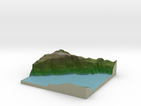 Terrafab generated model Sat Sep 28 2013 01:34:43  in Full Color Sandstone
