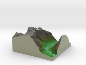 Terrafab generated model Sat Sep 28 2013 20:42:44  in Full Color Sandstone