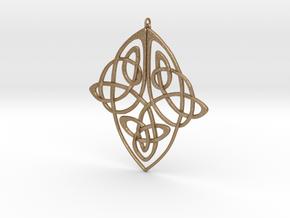 Celtic Pendent 1 in Matte Gold Steel