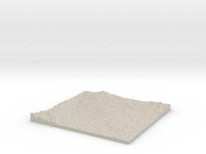 Model of Vallejo in Natural Sandstone