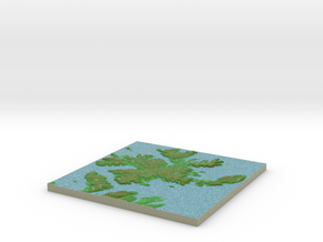Terrafab generated model Sun Sep 29 2013 00:11:46  in Full Color Sandstone