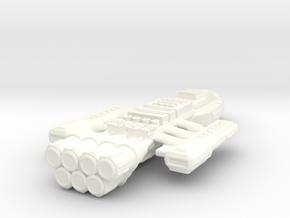 Battlestar Cronus in White Strong & Flexible Polished