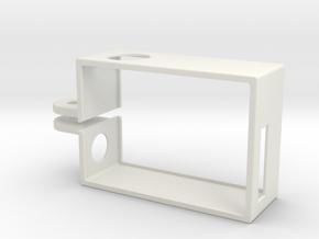GoPro Hero3 Frame Vertical in White Natural Versatile Plastic