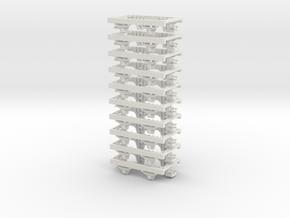 009 Underframe  27mm long NEM pockets 10 pack in White Natural Versatile Plastic