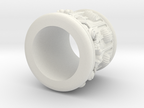 PillarCrown Optimised in White Natural Versatile Plastic
