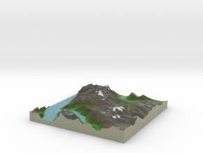 Terrafab generated model Tue Oct 01 2013 23:50:43  in Full Color Sandstone