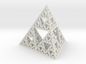 Large Sierpinski tetrix in White Natural Versatile Plastic
