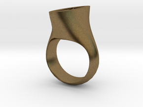 Star ring in Natural Bronze