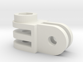 GoPro mounting part 90 degrees angle in White Natural Versatile Plastic