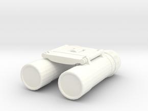 1/10 Scale Compact Binoculars in White Processed Versatile Plastic