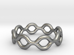 Infinity Ring in Raw Silver