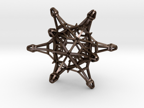 DodecaJack Thick 6cm in Polished Bronze Steel