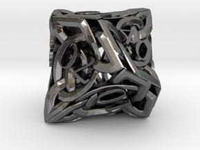 Celtic Percentile D10 in Polished Nickel Steel