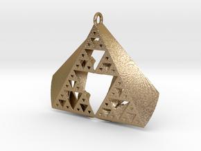 SuperFractal Pendant in Polished Gold Steel