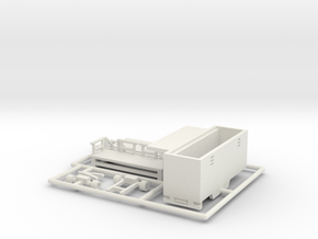 Toilettenwagen - 1:220 (z scale) in White Natural Versatile Plastic
