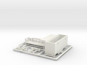 Toilettenwagen - 1:220 (z scale) in White Natural Versatile Plastic