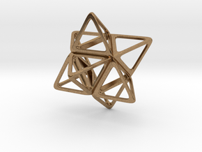 Merkaba Flatbase R1 - 4cm in Natural Brass