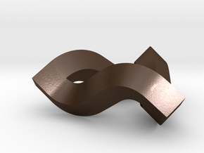 Impossible Triangle in Polished Bronze Steel