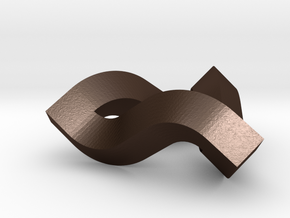 Impossible Triangle, Mini in Matte Bronze Steel