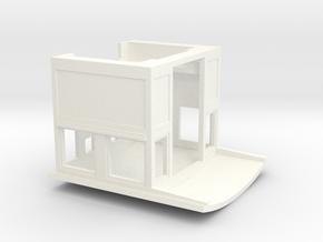 Cab for 2-8-0 DCC version in White Processed Versatile Plastic