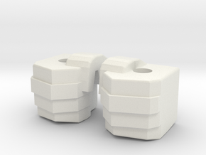 Simpfied Combinder fists for Kabaya set 7  in White Natural Versatile Plastic