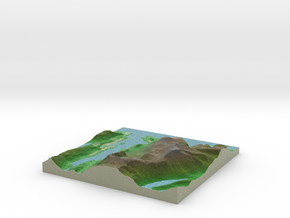 Terrafab generated model Wed Oct 09 2013 15:57:38  in Full Color Sandstone
