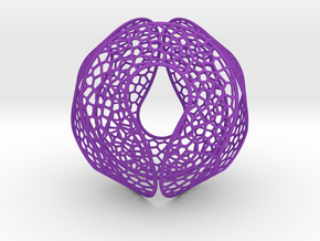 Spherocircles in Purple Processed Versatile Plastic