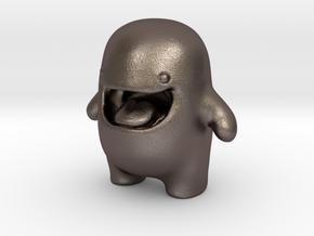 Edd - Easy Digital Downloads Mascot in Polished Bronzed Silver Steel