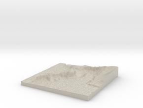 Model of Terrebonne in Natural Sandstone