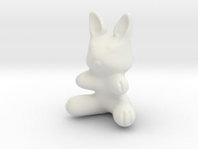 Plastic Bunny (2in./5.08cm) in White Natural Versatile Plastic
