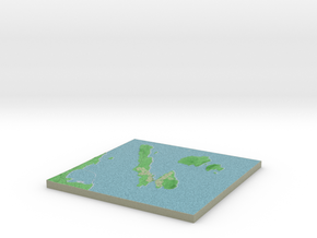 Terrafab generated model Sat Oct 12 2013 08:38:40  in Full Color Sandstone