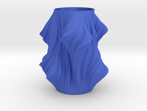 Julia Vase #011 - Heatwave in Blue Processed Versatile Plastic