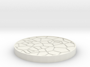 Rocky Stand - 25mm in White Natural Versatile Plastic