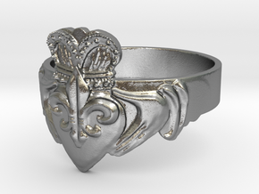 NOLA Claddagh, Ring Size 12 in Natural Silver