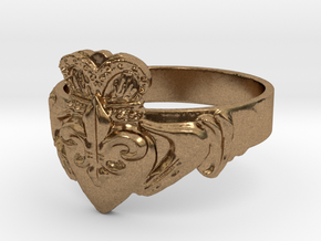 NOLA Claddagh, Ring Size 9 in Natural Brass