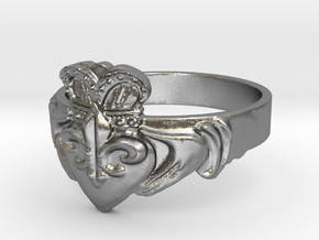 NOLA Claddagh, Ring Size 6.5 in Natural Silver