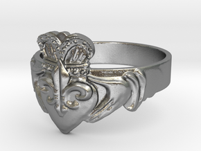 NOLA Claddagh, Ring Size 9 in Natural Silver