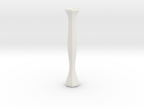 flower tube vase in White Natural Versatile Plastic