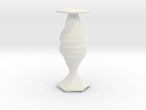 twisted fish flower  vase in White Natural Versatile Plastic