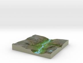Terrafab generated model Tue Oct 15 2013 23:49:22  in Full Color Sandstone