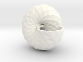 Snail Shell in White Strong & Flexible Polished