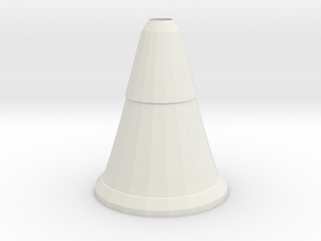 cone vase in White Natural Versatile Plastic