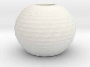 twisted ball vase in White Strong & Flexible
